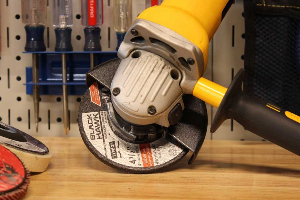 how to grind concrete with angle grinder